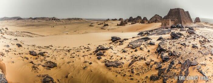 meroe-pyramids-sudan panorama