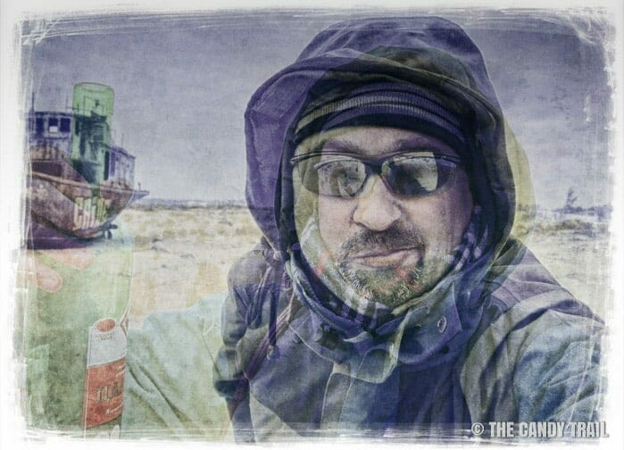 michael-robert-powell traveler at aral sea cemetery of ships at moynaq in uzbekistan