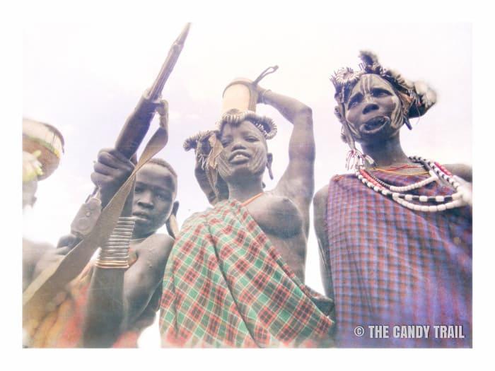 mursi tribe in ethiopia pose