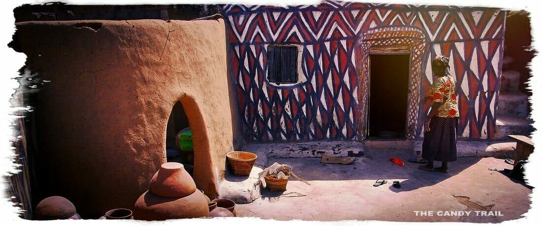 beautiful painted house sirigu village ghana