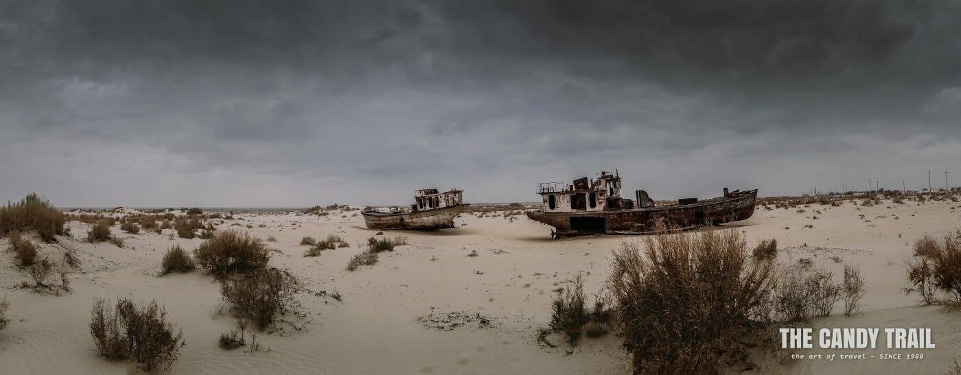 cemetery of ships Aral Sea Moynaq