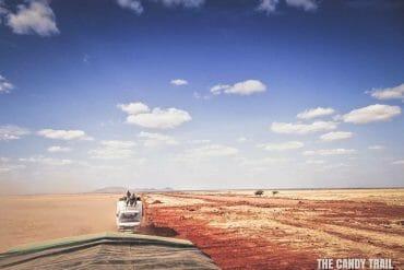hitchhiking on truck across kenya