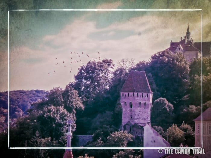 Transylvania sighisoara citadel tower romania