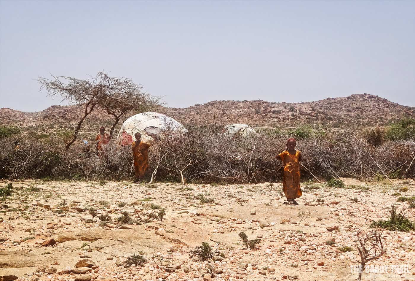 desert family hut near laas geel caves in somaliland