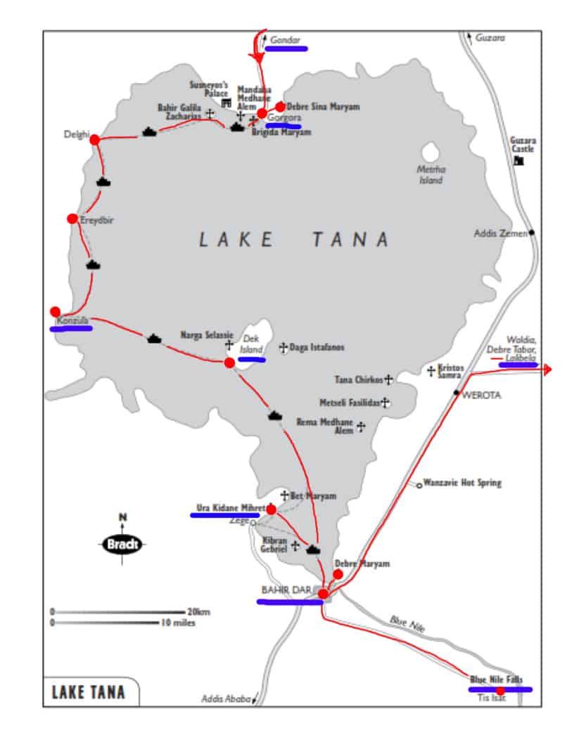 map of lake tana boat trip