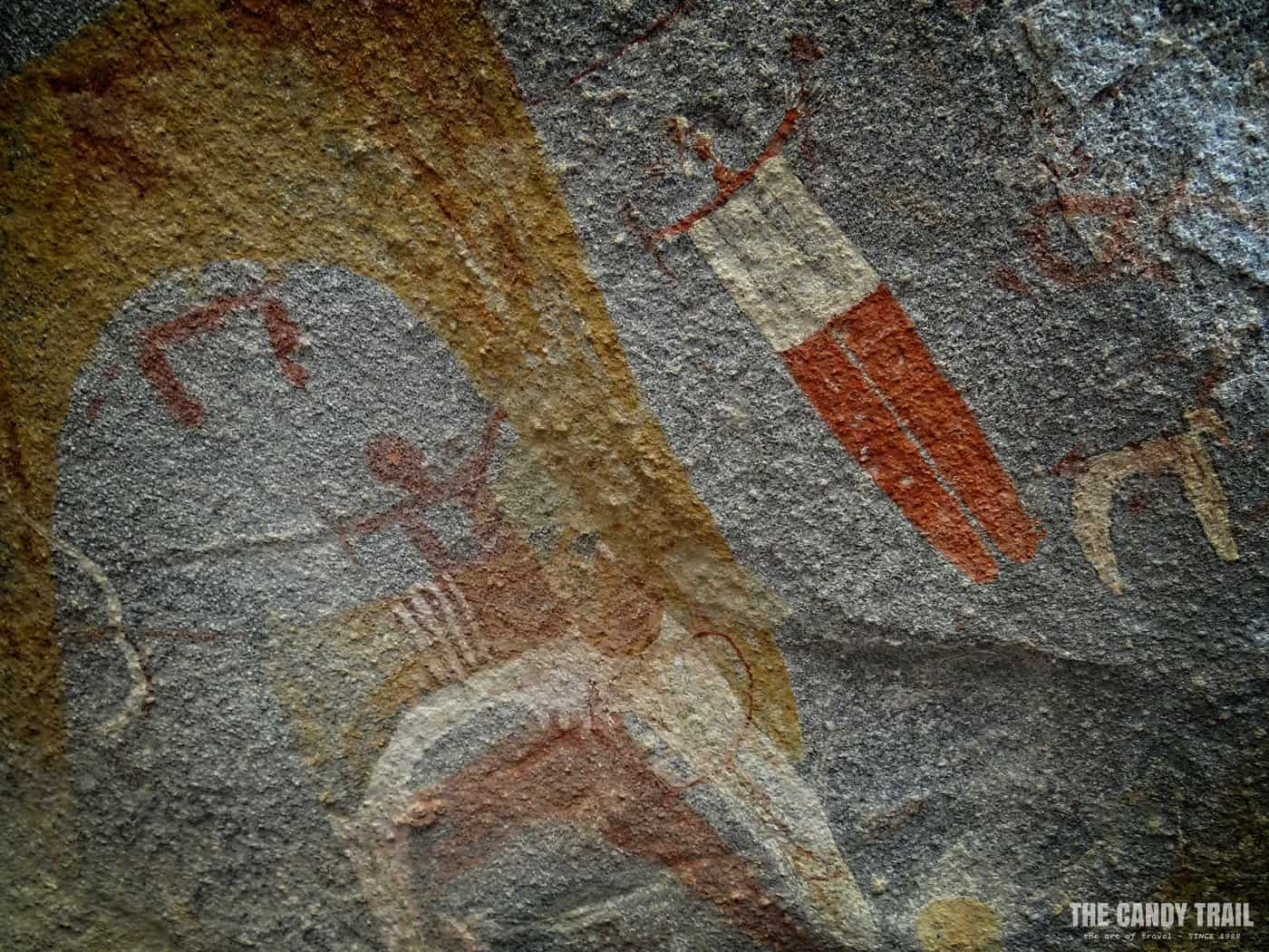 detail of laas geel cave painting in somaliland