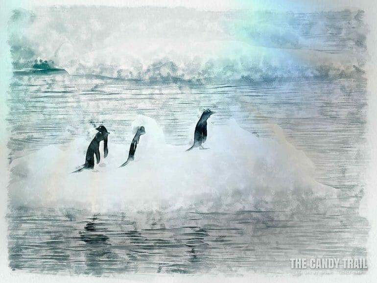 antarctica-penguins-ride-iceberg