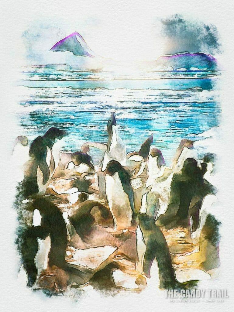 antarctica-penguins-sea-ice-mountain