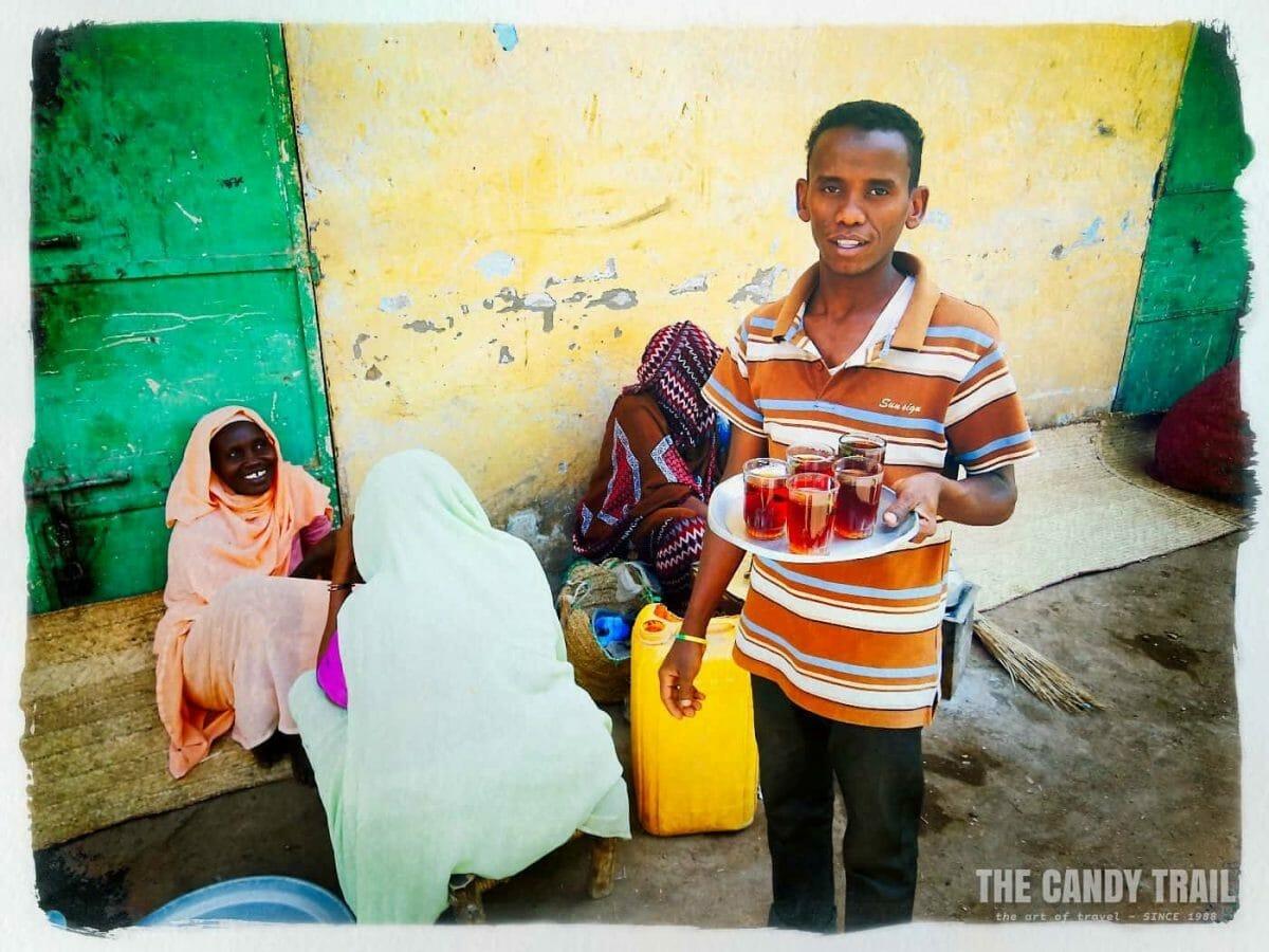 tea vendor kassala market in sudan