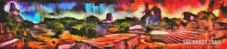 tikal ruins panorama