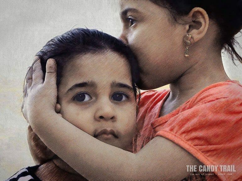 young girls embrace siwa egypt
