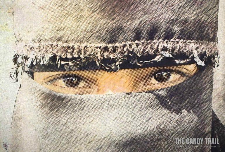 veiled yemen woman