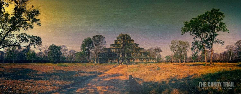 koh ker temple pyramid panorama Prasat Thom Cambodia temples