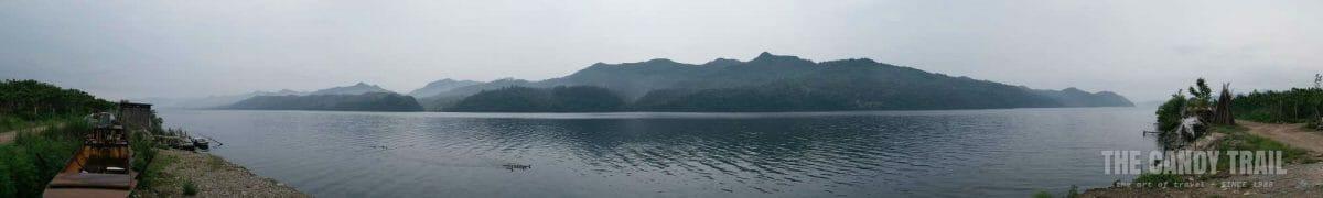 Yalu River Panorama North Korea