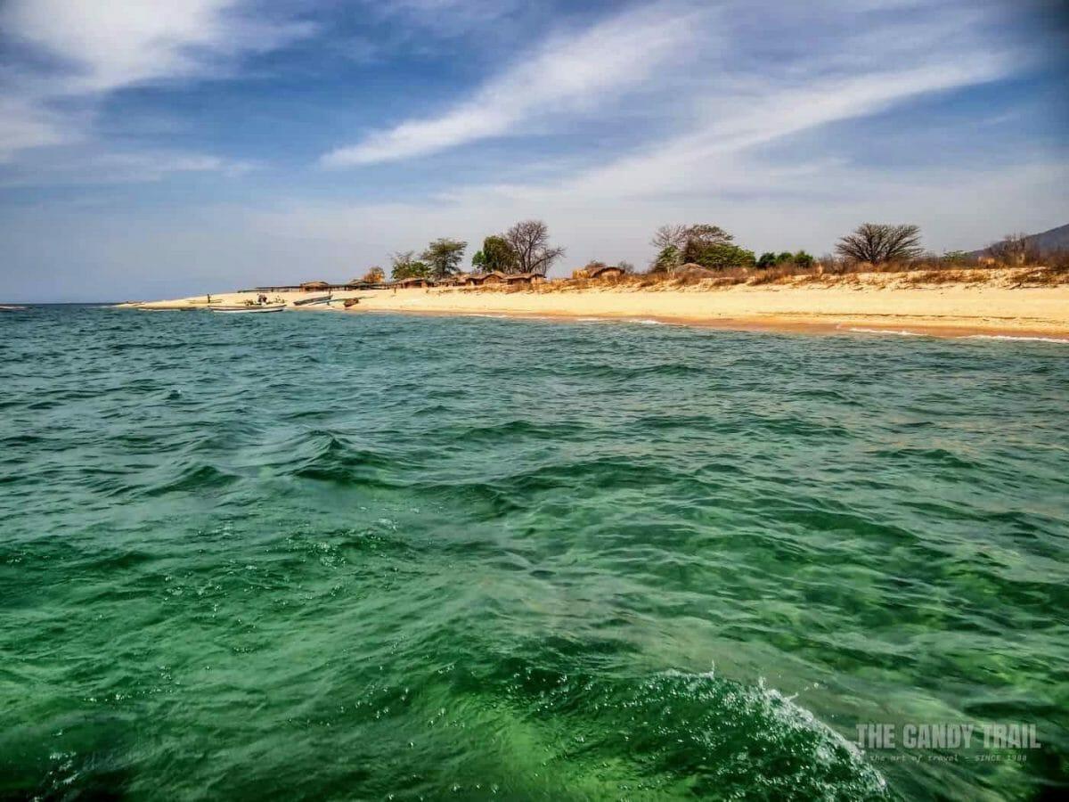 lake malawi beach  Cobue Border northern Mozambique