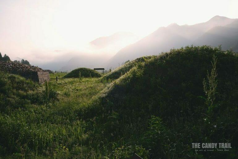 Misty Wandu Tomb Ruins China