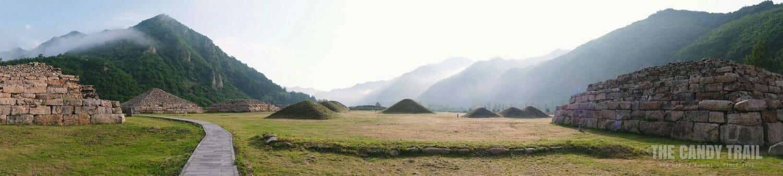 Tombs Morning Panorama Wandu Mountain City Ruins China