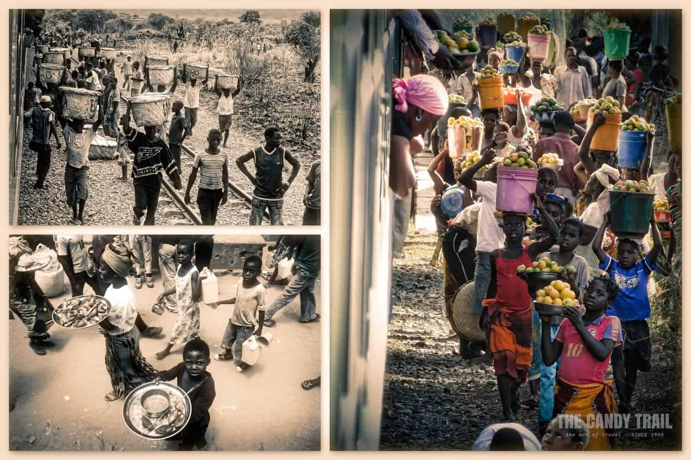 Vendors At Train Station in Northern Mozambique