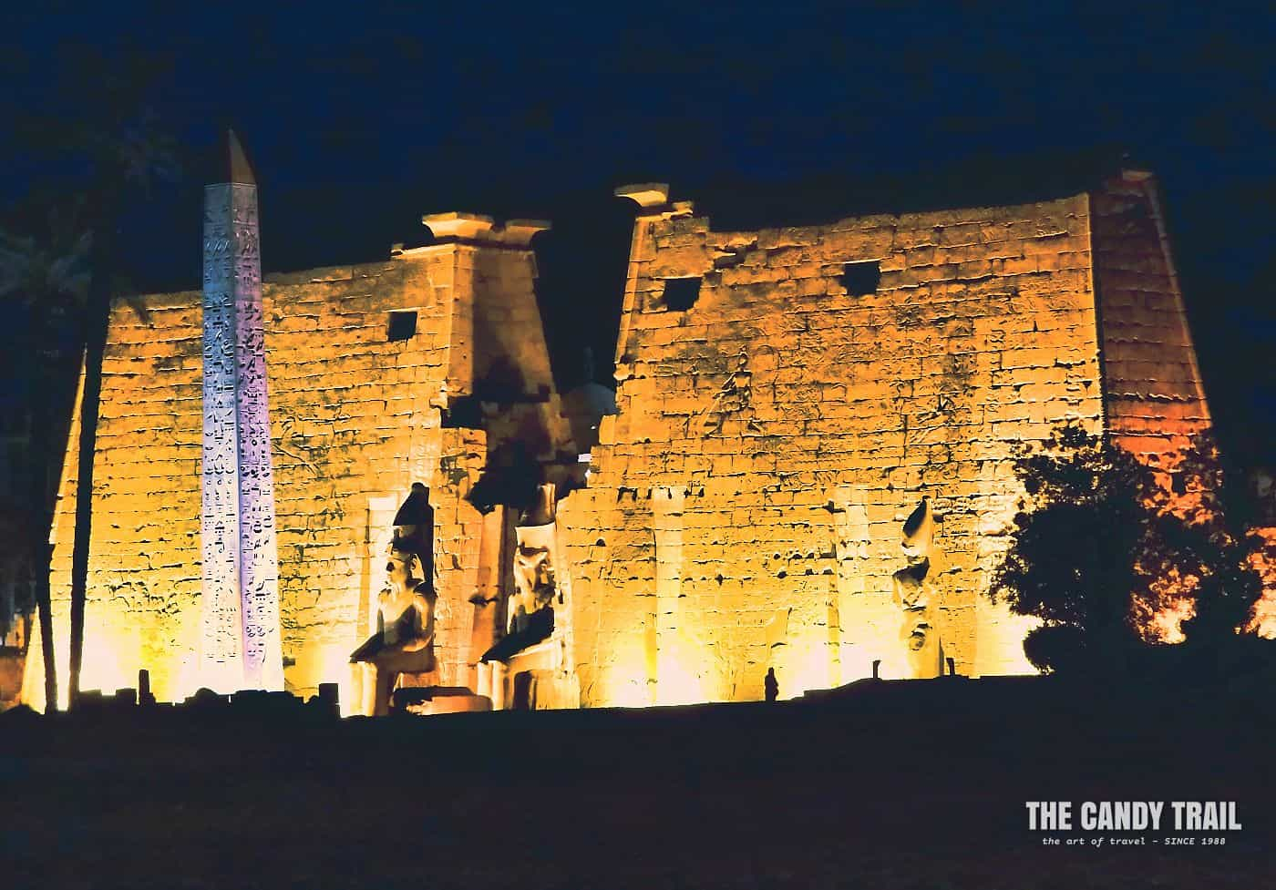 Luxor Temple At Night Egypt
