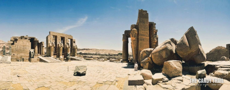 Ramesseum Temple Ruins Panorama Luxor Egypt