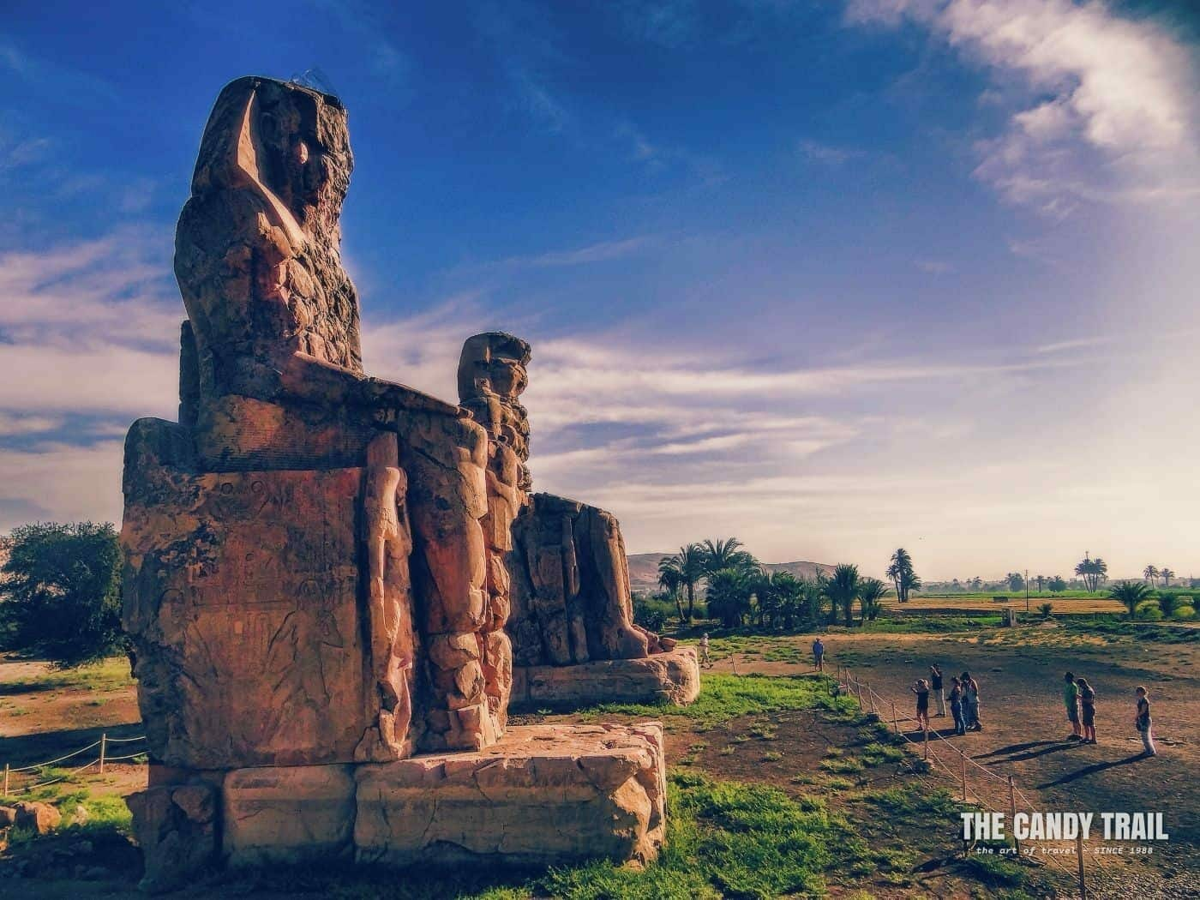 The Colossi Of Memnon Statues At Luxor Egypt