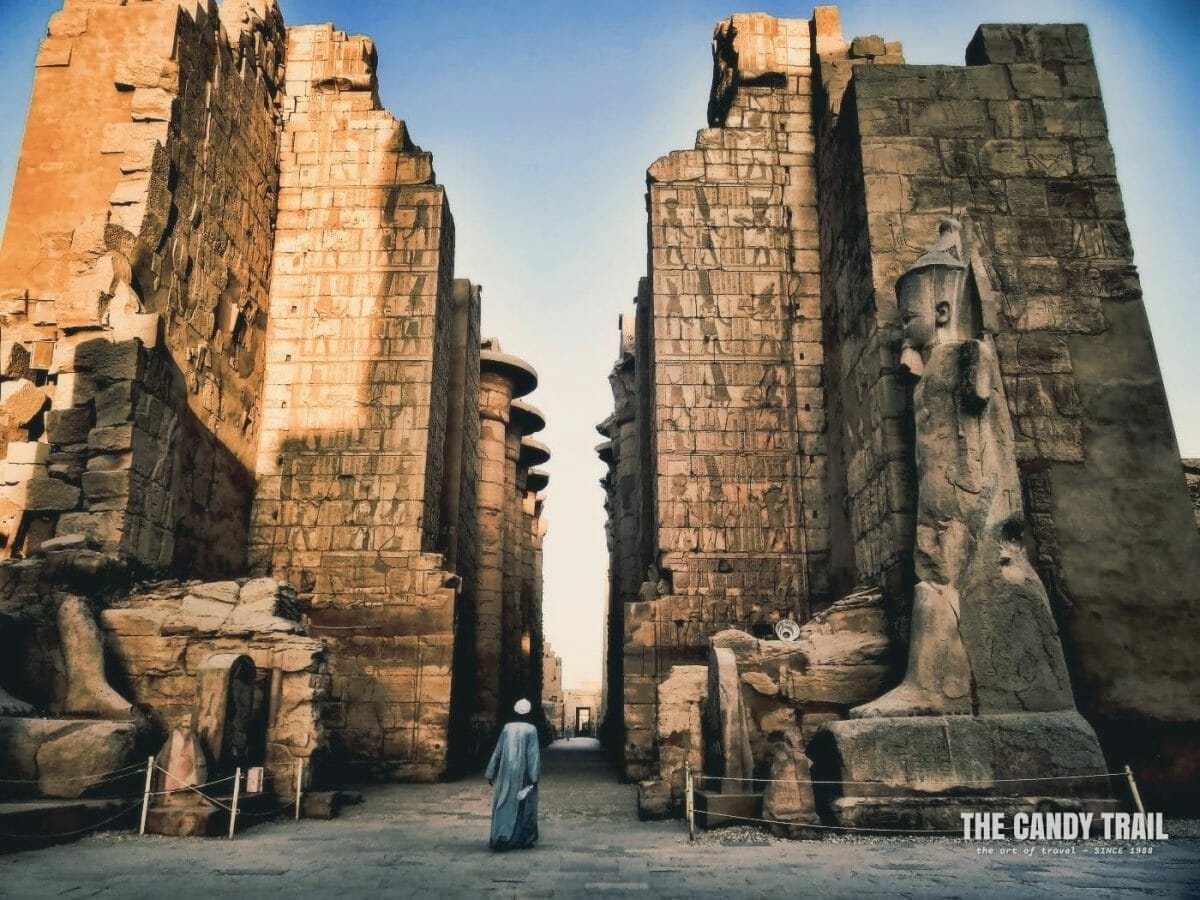 Man At Karnak Temple Luxor Egypt