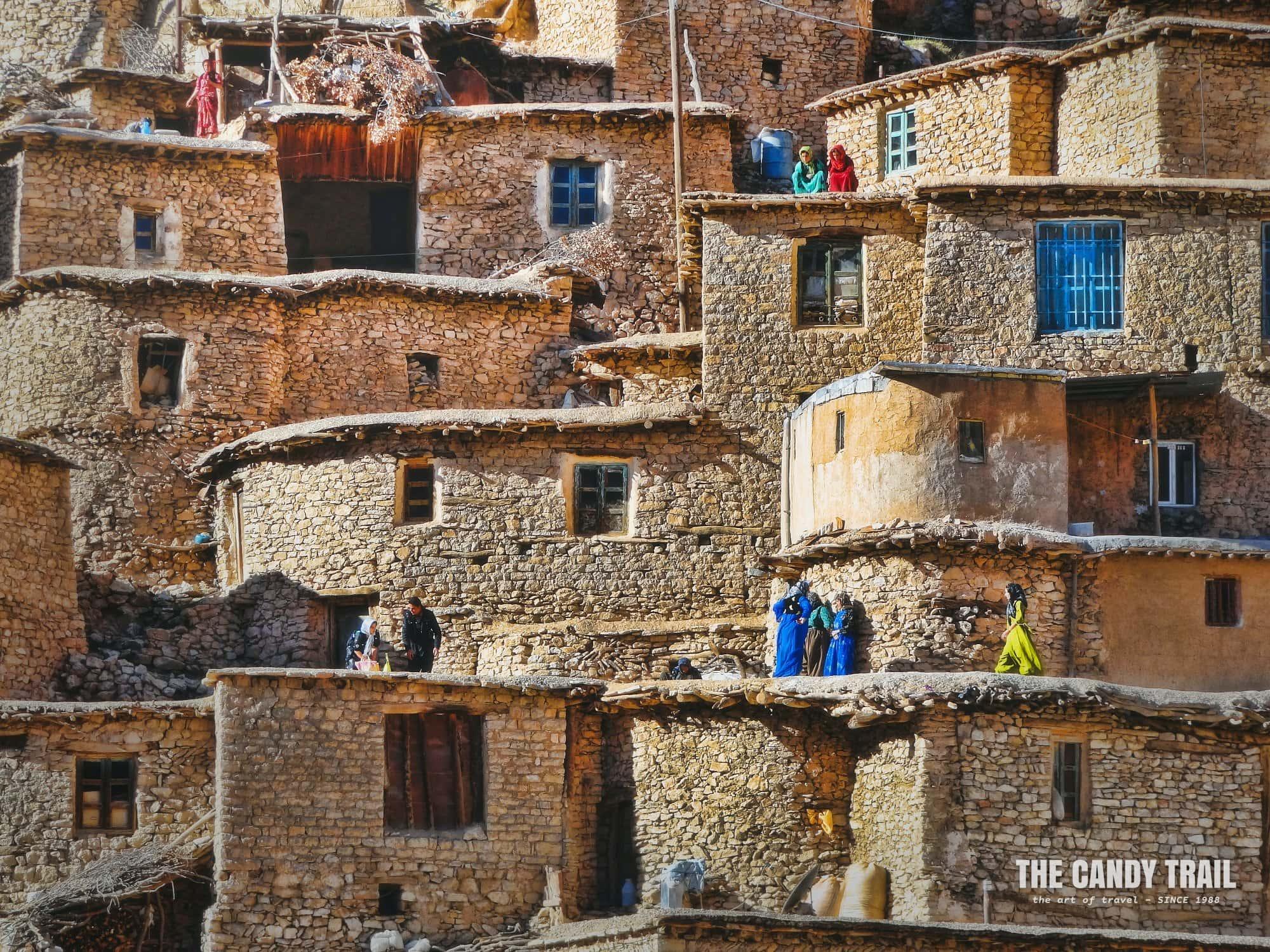 Houses Of Palagan Village Kurdistan Iran