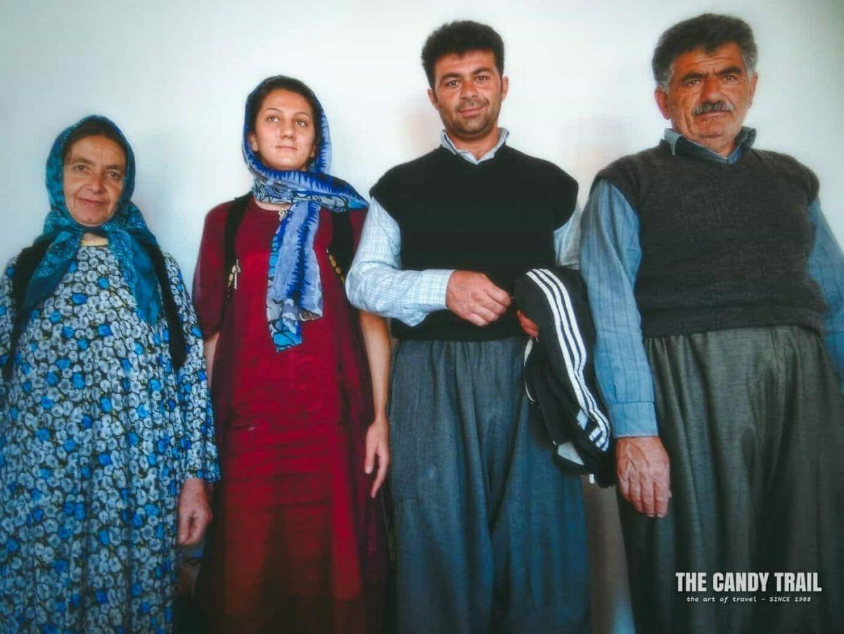 Kurdish Family Photo Iran