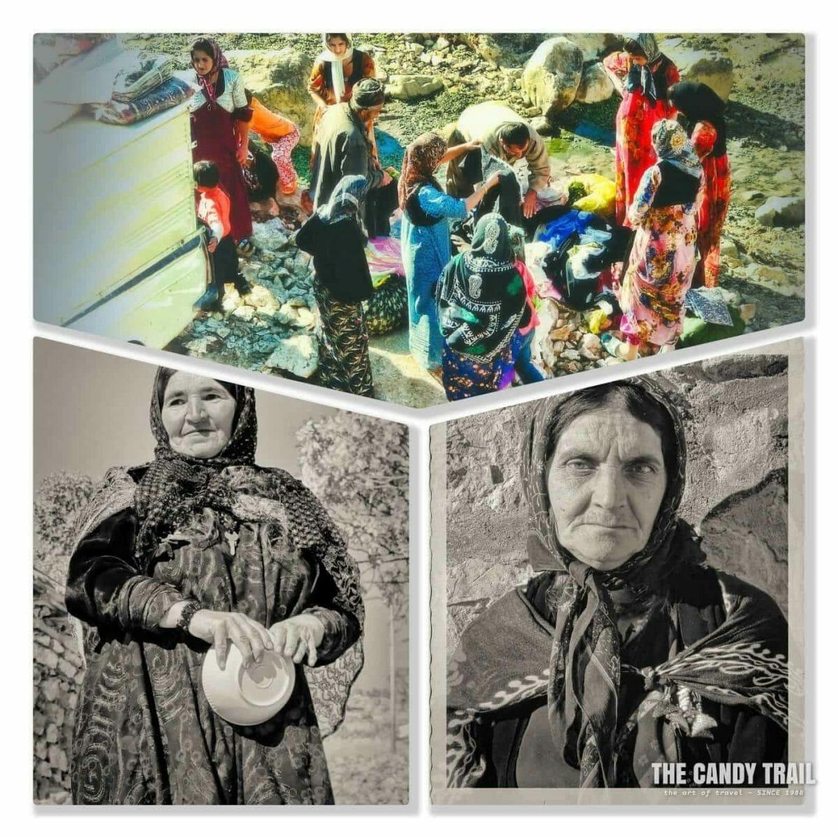 Kurdish Women buying clothes in Palagan village in Iran