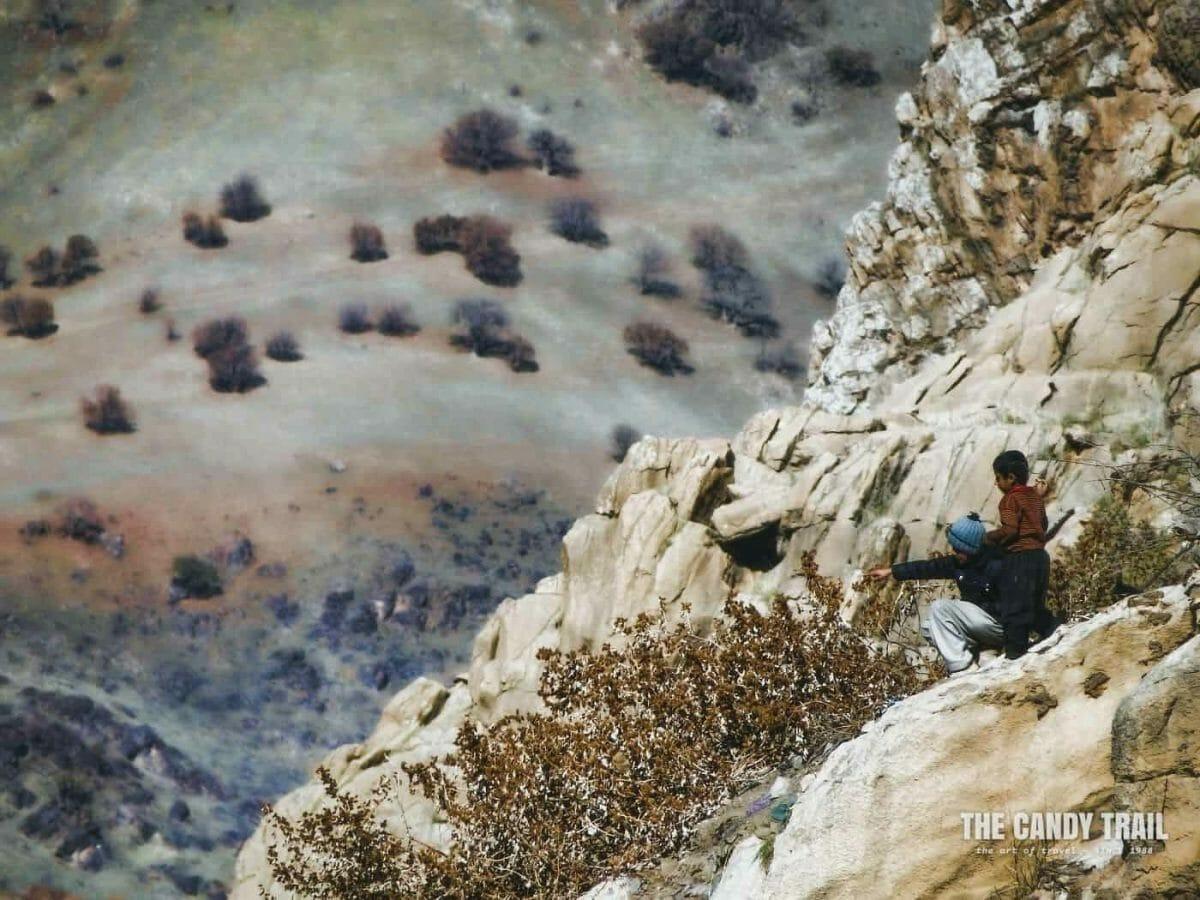 Cliff Kurdish Kids Iran