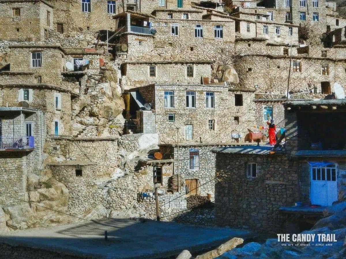 houses tacked in Palangan village Iran