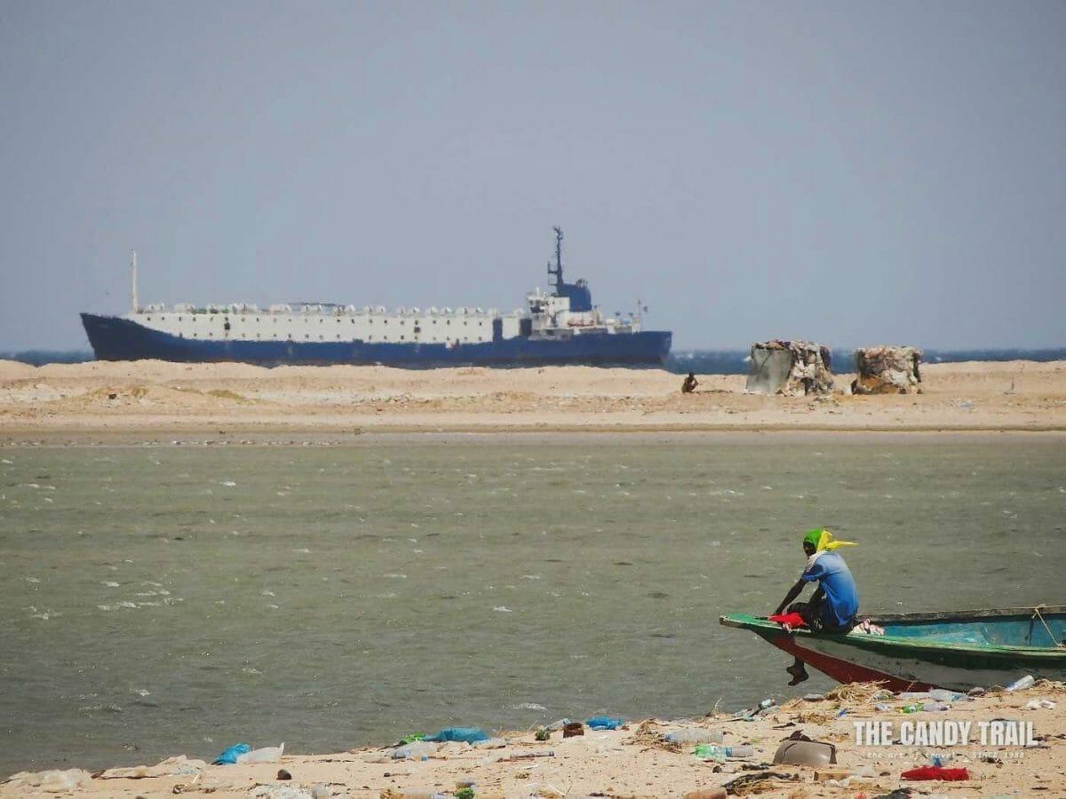 Container Ship Arriving Berbera Somaliland