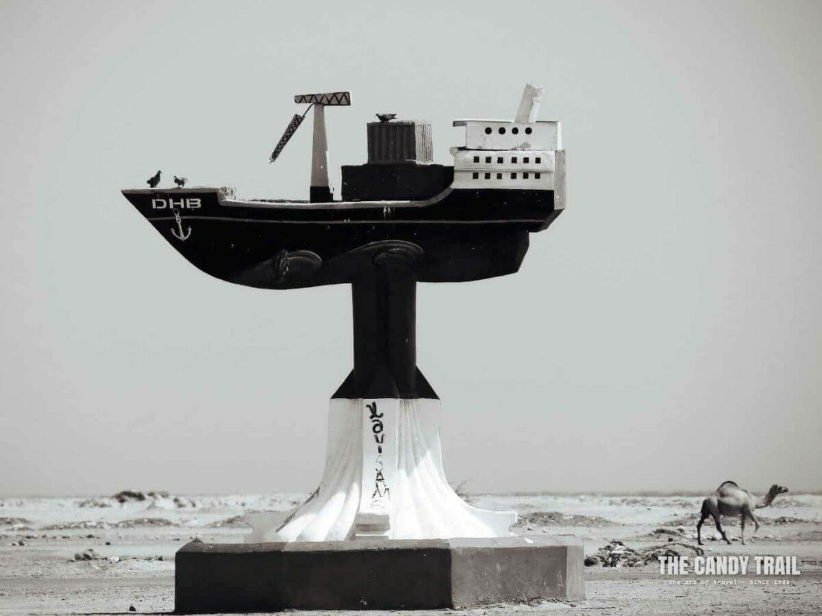 Ship Monument And Camel Berbera Somaliland