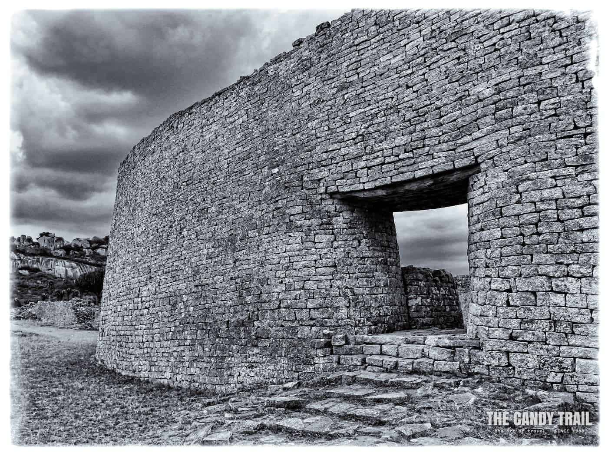 Huge Stone Walls Great Zimbabwe Ruins