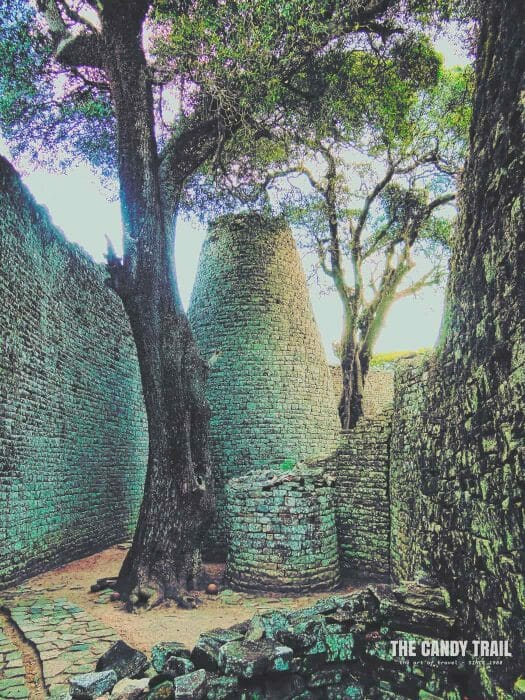 Stone Conical Tower Great Zimbabwe Ruins