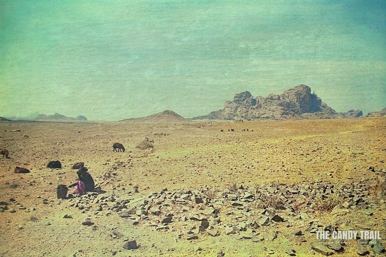 shepherd girl barren landscape matara eritrea