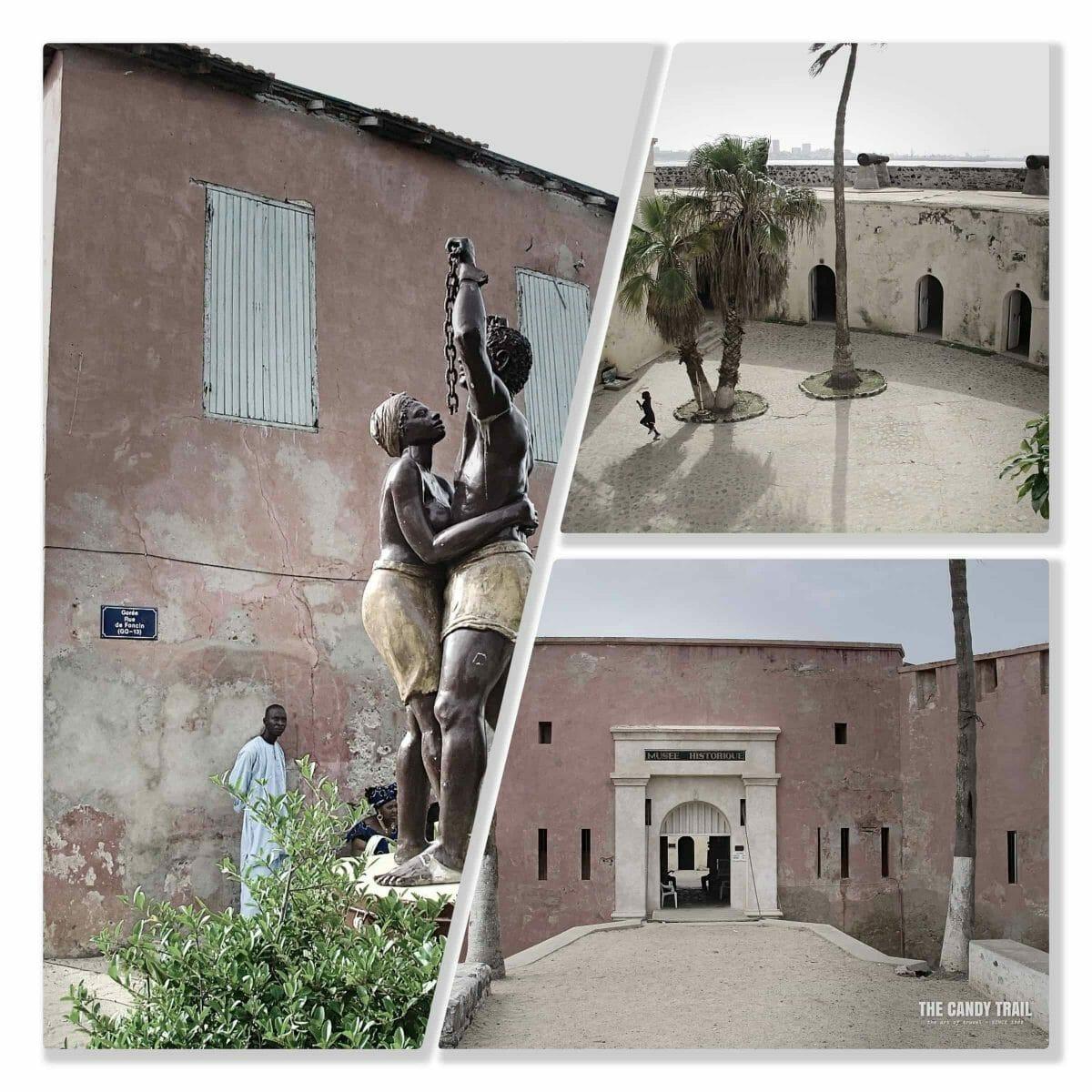 Slave legacy sites on Goree Island.