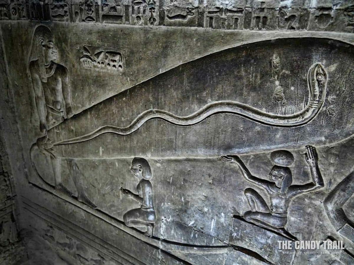 Light bulb at Temple of Hathor at Dendera egypt