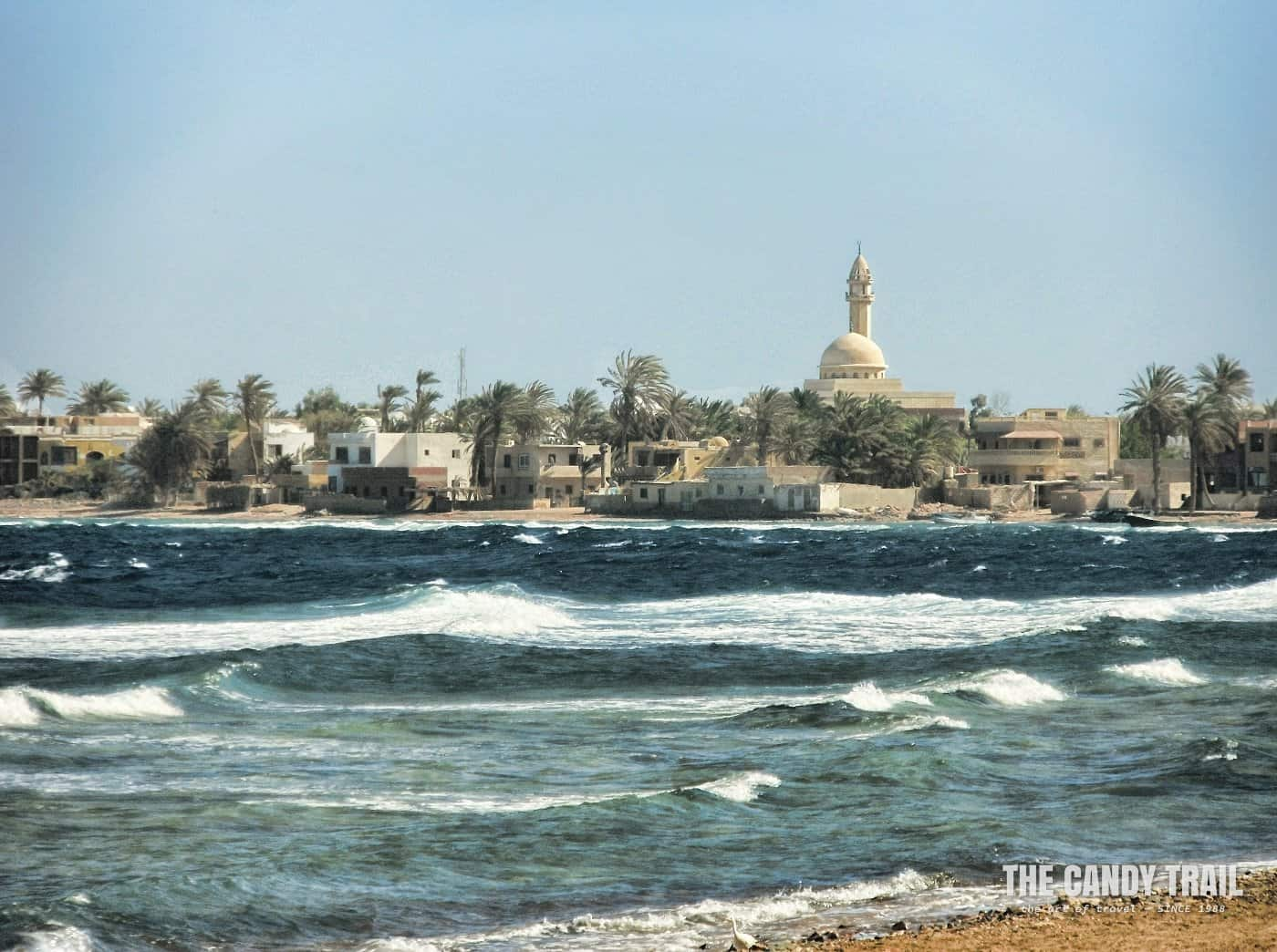 windy day for snorkeling blue hole at dahab