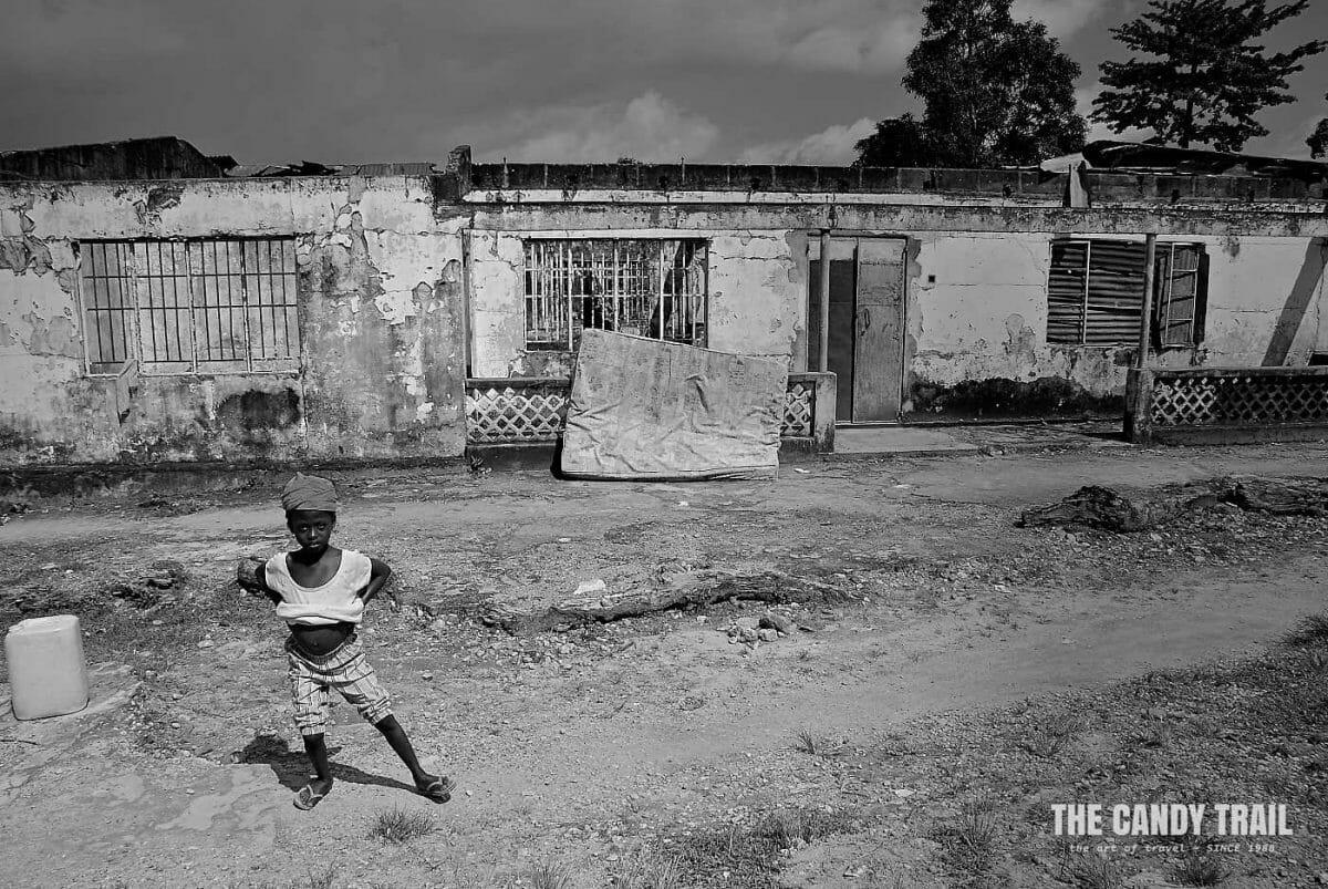 Sierra Leone village still war-ravaged.