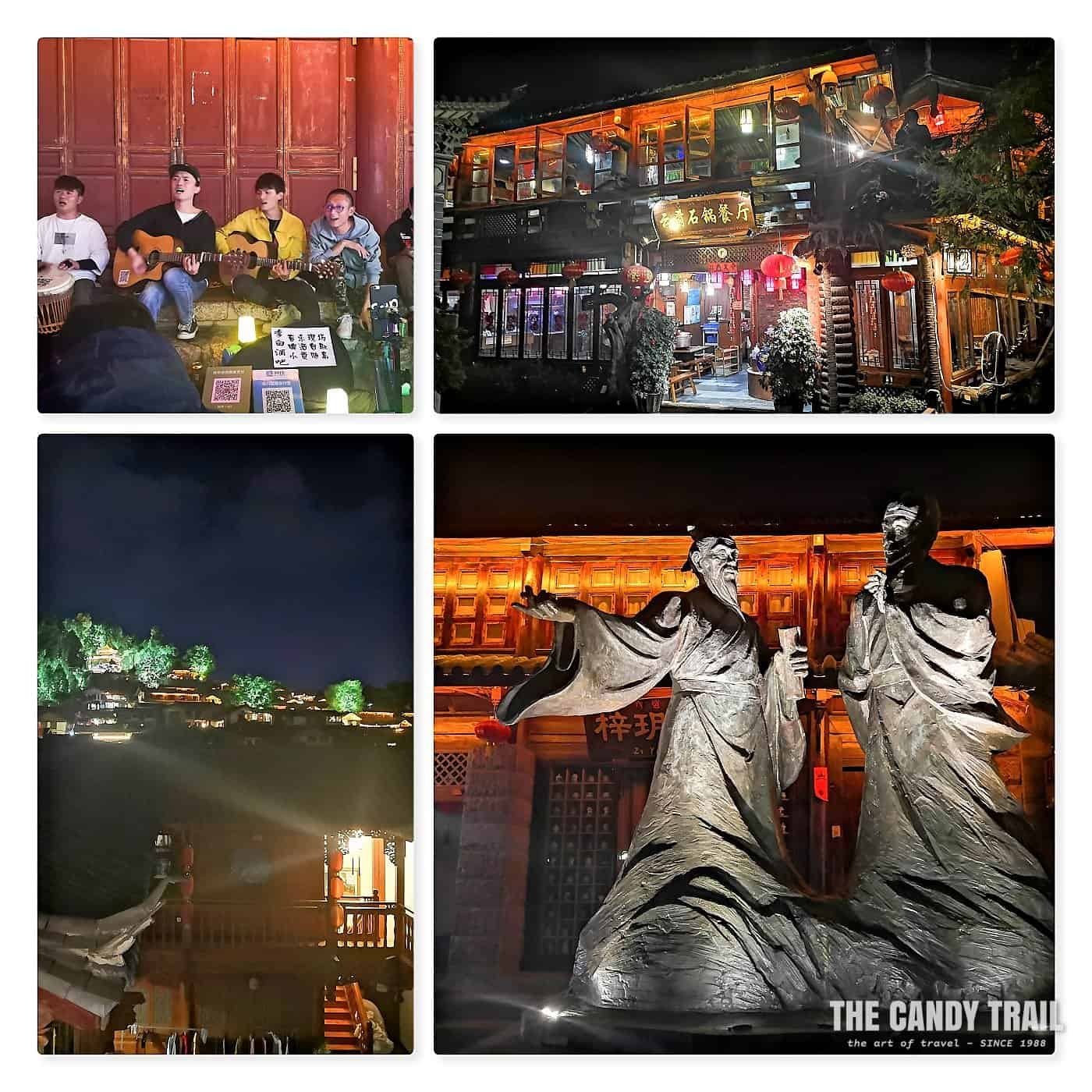 Old town of Lijiang at night in China
