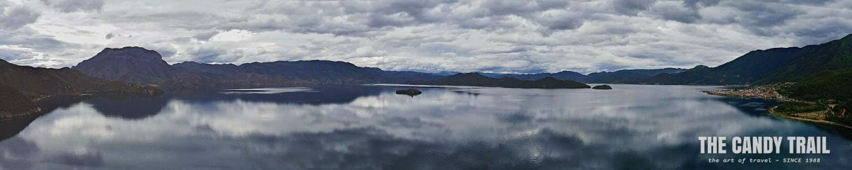 lugu lake panorama yunnan china