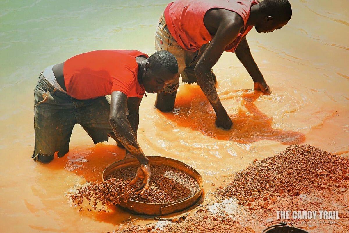 mining by hand diamond mine visit kono sierra lone