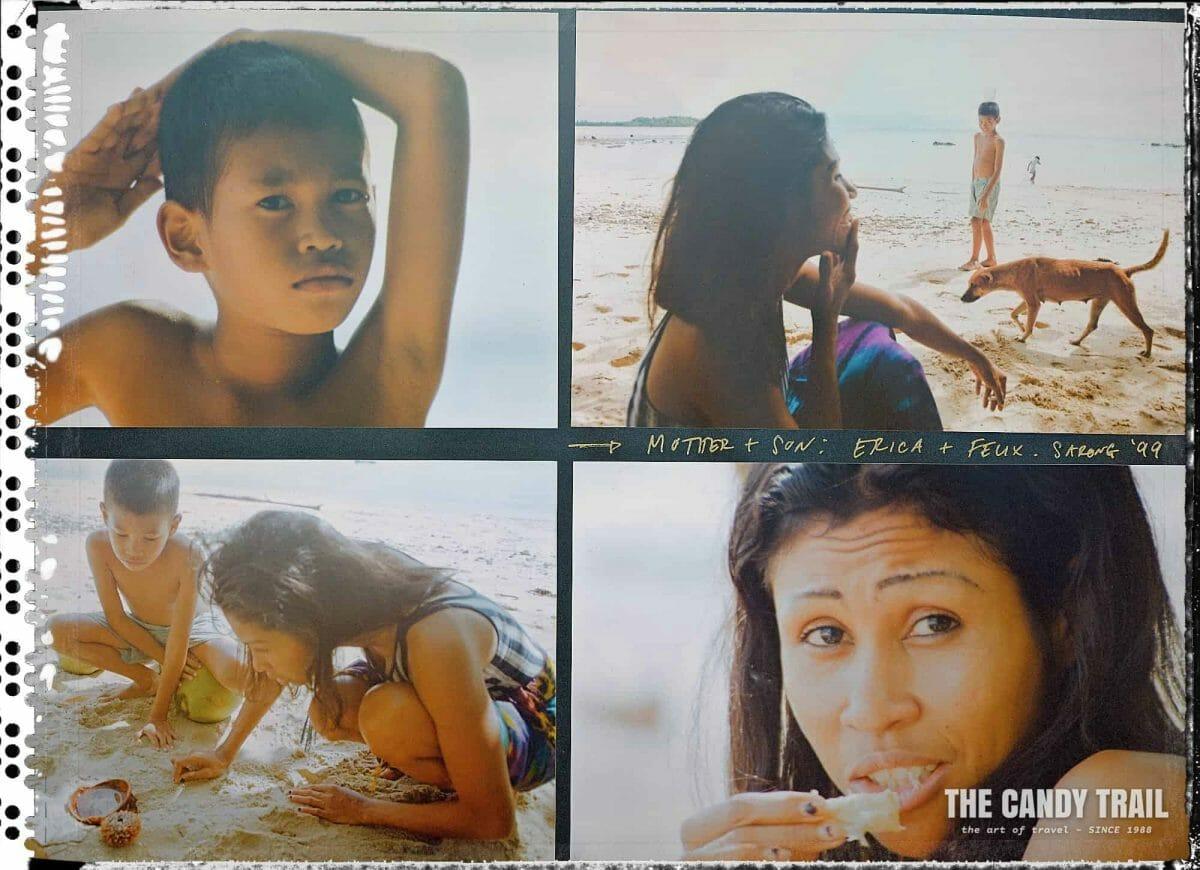 people on beach sarong papua indonesia