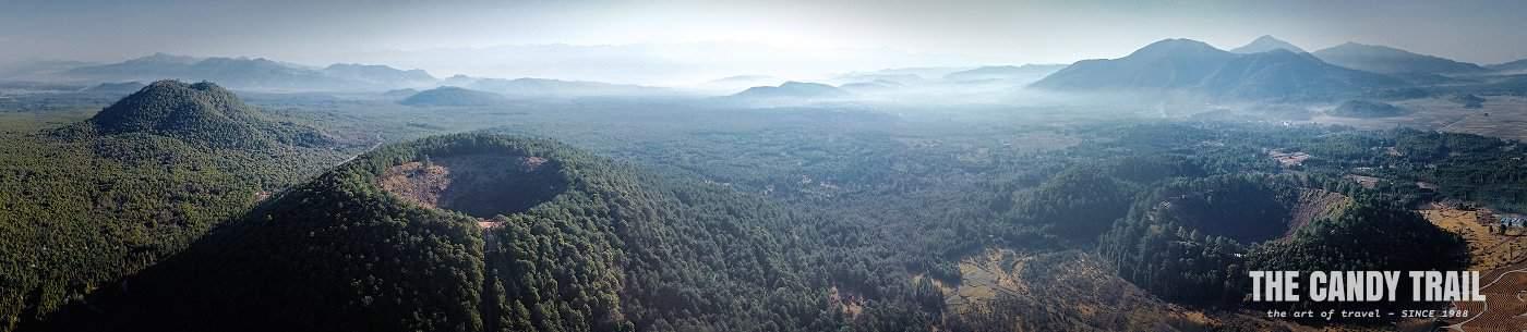 Panoram of Tong Cheng Volcanoes of southern Yunnan