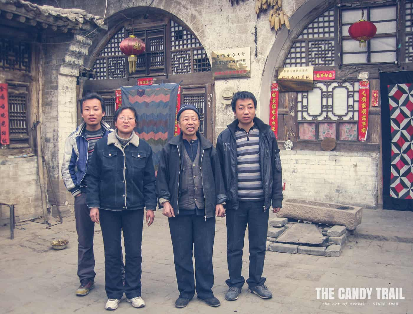 family owners of cave house in lijiashan village china 2011