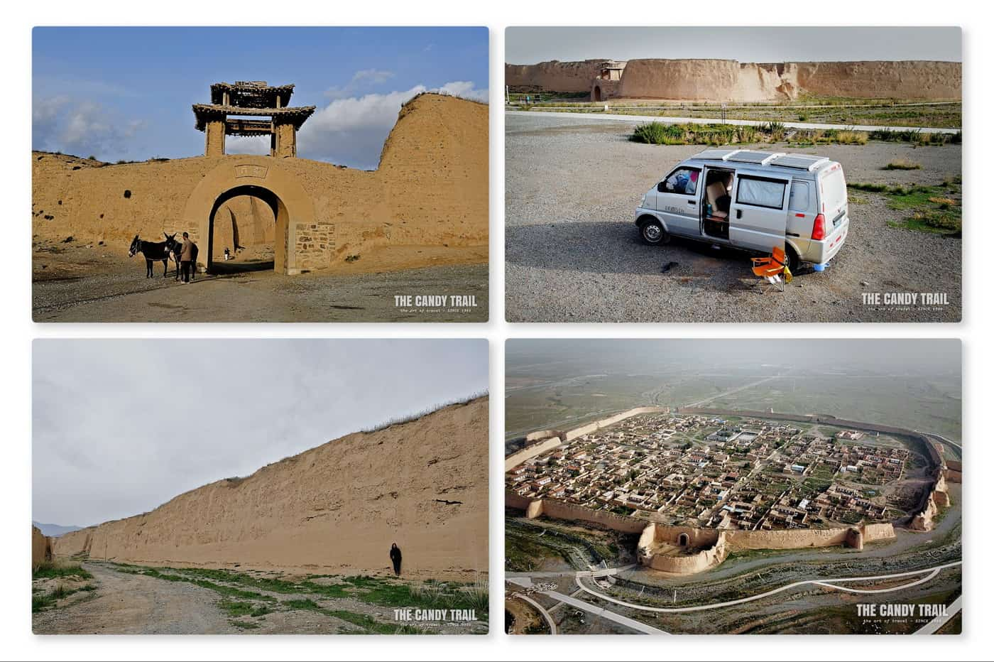 Yongtai ancient city Gansu China known as the turtle shaped fortress