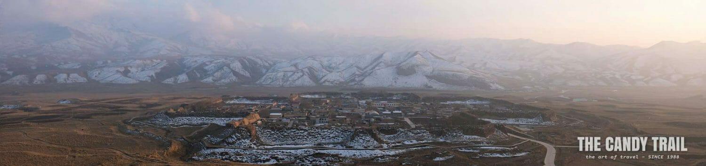 dusk octangle ancient city tibetan ganjia gansu china