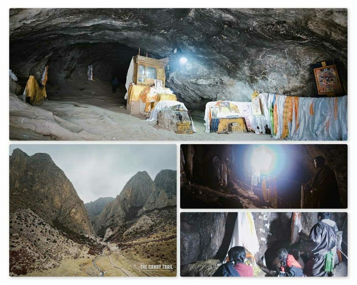 sacred tibetan cave ganjia gansu china