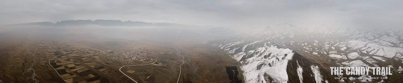 snow mountains octangle fort ganjia gansu china